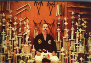 hoffman_9_Sensei Coffman with some of his many trophies