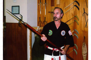 Sensei James Jimmy Coffman with Spear